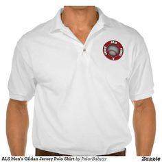 ALS Men's Gildan Jersey Polo Shirt