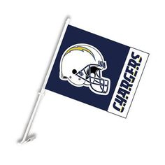 2 Sided Logo Car Flag - San Diego Chargers