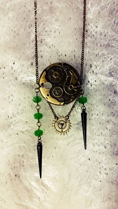 handmade with love fantasy steampunk necklace Steampunk Necklace, Gothic Steampunk, Fantasy, Handmade, Jewelry, Neck Chain, Hand Made, Jewlery, Jewels