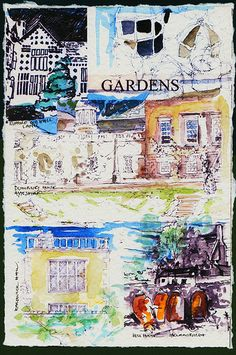 'GARDENS' - FROM 'JOURNEYS' - | by PARK@ARTWORKS Watercolor Print, Artworks, Journey, Textiles, Gardens, Ink, Drawings, Prints, Painting