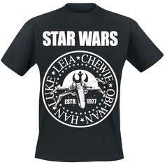 """Tähtien sodan poppoo jotenkin tutun oloisessa paitadesignissa...    """"Estd. 1977"""" t-paita - Star Wars, 100% puuvillaa."""