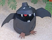 Milk carton bat... bat might be cuter with the smaller jugs.  site has other ideas also.