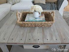 DIY ikea hacked barnboard table.