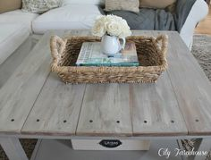 """DIY ikea hacked barnboard table. Okay, so there IS hope for my old ugly """"Lack"""" table!"""