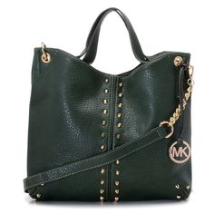 94b864130b29 Michael Kors Weston Pebbled Stud Large Green Totes Are High Quality And  Cheap Price! Picket Dianna · Michael Kors Shoulder Bags