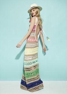 Knit Fashion, Boho Fashion, Easy Crochet, Knit Crochet, Moda Boho, Chiffon Skirt, Hippie Chic, Cuba Art, Crochet Clothes