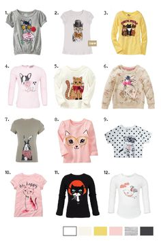 Emily Kiddy: Girls - Cats and Dogs Theme - Spring/Summer 2014