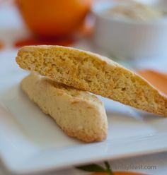 Orange Almond Biscotti - This is a delicious biscotti recipe we brought home from our honeymoon in Italy!