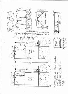 Vestido chamesier com babado - DIY- marlene mukai - molde infantil - Pins für alles Kids Patterns, Dress Patterns, Sewing Patterns, Power Hammer, Patent Prints, Shed Plans, Fashion Sewing, Sewing For Kids, Kids And Parenting