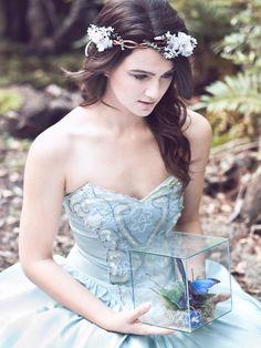 velvet flower white floral wreath wedding by serenitycrystal