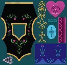 Frozen's Princess Anna Embroidery References by MomoKurumi on deviantART