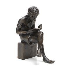 Solid bronze Seated Boy Wedgwood Museum Original Bronze Sculpture by Jonathan Sanders. Limited edition, hand cast in Britain. Bronze Sculpture, Lion Sculpture, Hand Cast, It Cast, Cool Works, Wedgwood, Garden Art, Home Furnishings, Museum