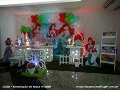 Tema Ariel para decoração de festa infantil - Festa Infantil Lugh
