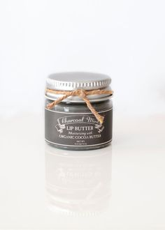 This handmade Charcoal Mint Lip Butter makes a unique and interesting stocking stuffer gift.