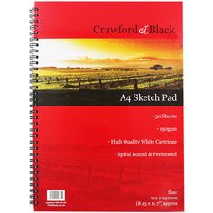 Crawford And Black A4 Sketchbook | Sketchpads at The Works