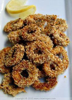 Baked King Oyster Mushroom Calamari Recipe on Yummly