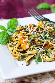 "Eggplant ""Noodles"" with Tomatoes and Basil"