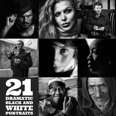 There is something timeless about a black and white portrait. Let& look at a few examples. Here are 21 fine examples of dramatic black and white portraits. Black And White Couples, Black And White People, Black And White Portraits, Black And White Photography, Photography Lessons, People Photography, Photography Tutorials, Creative Photography, Photography Ideas