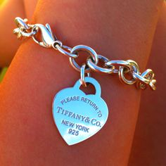 My Future Wedding Gift with my Initials engraved on it!   Tiffany bracelet <3