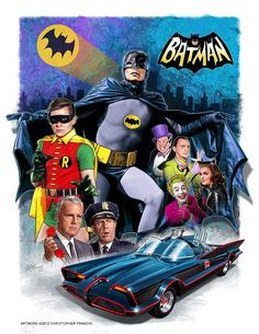 Batman TV Series | Terrific 1966 BATMAN TV show artwork by Christopher Franchi ...