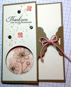 Card 2015-29 Make-n-Take Design by: DiAnne Hill, Stampin' Up! Demonstrator, Nanoose Bay, BC  Stamp Sets: Bloom with Hope, Work of Art, Gorgeous Grunge, Wetlands Card Stock: Baked Brown Sugar, Very Vanilla, Crisp Canteloupe Ink Pads: Baked Brown Sugar, Early Espresso, Crisp Canteloupe Punches: Scalloped Tag Topper, Itty Bitty Accents punch pack Framelits: Circles Collection  Embellishments: gold sequins, gold embossing powder, crisp canteloupe baker's twine