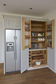New kitchen furniture design modern projects Ideas Kitchen Pantry Design, Kitchen Cabinet Storage, Kitchen Redo, Home Decor Kitchen, Kitchen Furniture, Home Kitchens, Kitchen Remodel, Kitchen Cabinets, Kitchen Larder Cupboard