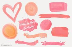 Acuarela - Color del agua - Logo - gráfico - Clip Art - cinta - Custom - Vector - Tiff - transparente