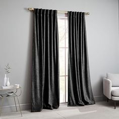 west elm's window curtains bring affordable style to the room. Find drapes and window hardware at west elm. Living Room Decor Curtains, Bedroom Decor, Wall Decor, Bedroom Curtains, Window Curtains, West Elm, Blackout Panels, House Windows, Affordable Home Decor