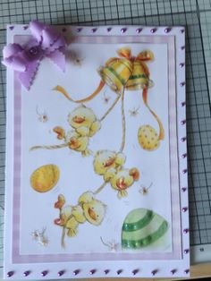 Easter card made using Hunkydory spring is in the air paper pad