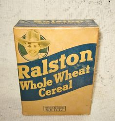 Early Ralston Cereal Unopened Box Advertising $15.00