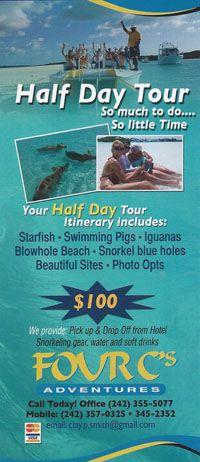 Bahamas Exuma Cays Adventure Tours Water Excursions