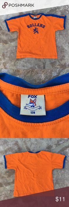 Boys Holland T-shirt Sz S Excellent condition, European Sz 128 Fox Shirts & Tops Tees - Short Sleeve