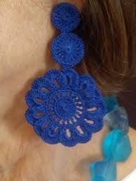 48 Ideas for knitting design art textiles Crochet Jewelry Patterns, Crochet Earrings Pattern, Crochet Bracelet, Crochet Accessories, Crochet Designs, Knitting Designs, Crochet Art, Thread Crochet, Crochet Gifts