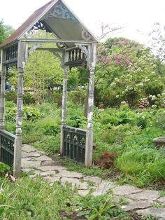 Repurposed porch pieces