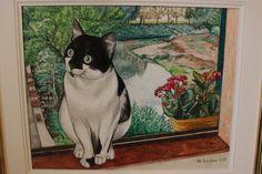 Questo è il ritratto di un simpaticissimo gattone che si chiama Mario. L'ho dipinto su tela con tempera acrilica.