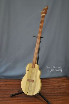 2 string bass guitar by CandanceMichelle on Etsy, $200.00