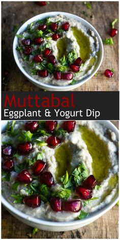 This famous dip called moutabel or mutabal is made from grilled or smoked eggplant. It's easy to make and at the same time refreshing because of the yogurt.
