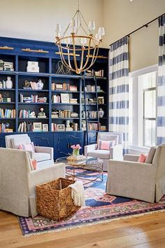 Trendy Home Library Decor Built In Bookcase Home Library Decor, Home Library Design, Home Libraries, Home Office Design, Home Decor, Design Desk, Library Ideas, Library Pictures, Library Ladder