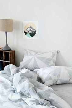 NEW URBAN OUTFITTERS ASSEMBLY HOME GREY RADIAL GEO SET OF 2 STANDARD SHAMS