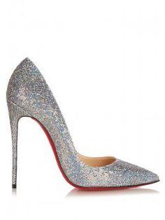 Christian Louboutin So Kate glitter pumps Stiletto Pumps, High Heels Stilettos, Pointed Toe Pumps, Louboutin Pumps, Peep Toe, Red Glitter Shoes, Red Shoes, Women's Shoes, Christian Louboutin So Kate