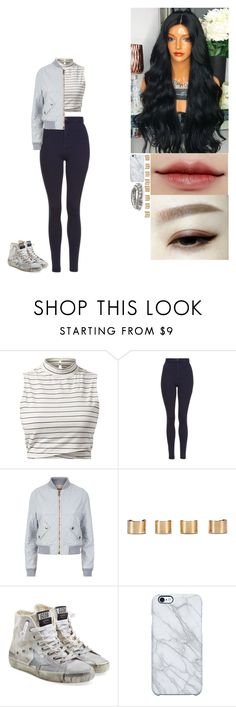 """""""Untitled #181"""" by kayla-pruitt030 ❤ liked on Polyvore featuring Topshop, Chloé, Maison Margiela, Golden Goose, Uncommon and White House Black Market"""