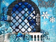 """Mixed Media Canvas """"Frozen"""" 2 by Scrappin' Stain"""