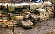 step stile on a curved wall