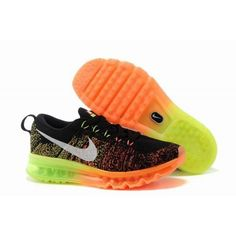 best service ec25b 505a8 Buy Running Shoes Nike Flyknit Air Max Black Atomic Orange Volt White Super  Deals from Reliable Running Shoes Nike Flyknit Air Max Black Atomic Orange  Volt ...