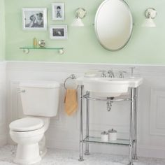 American Standard 0282.008.020 Retrospect Pedestal Console Sink Top with  8-Inch Faucet Spacing