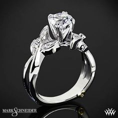 The Mark Schneider Mystic Diamond Engagement Ring is perfect for the woman who likes a unique twist on traditional.  #Whiteflash #MarkSchneider