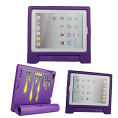 Bolete iPad 2/iPad 3/iPad4 Speaker Kids Case Friendly Shock Proof Super Protective Handle Stand Cover Case for Apple iPad 2/iPad 3/iPad4 Tablet, Purple *** Check out the image by visiting the link.