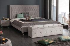 Lavica s úložným priestorom EXTRAVAGANTA SILVER. Chesterfield Sofa, Banquette Design, Sofas, Dark Interiors, Vintage Design, Elegant, Mattress, Bed, Furniture