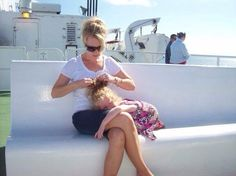 Getting the hair fixed onboard Hair Fixing