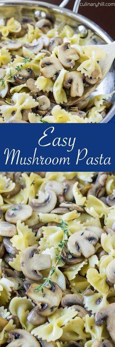 For the true mushroom lover, Easy Mushroom Pasta is a quick and easy vegan meal or side ready in just 20 minutes! Use whatever fresh herbs you have on hand.